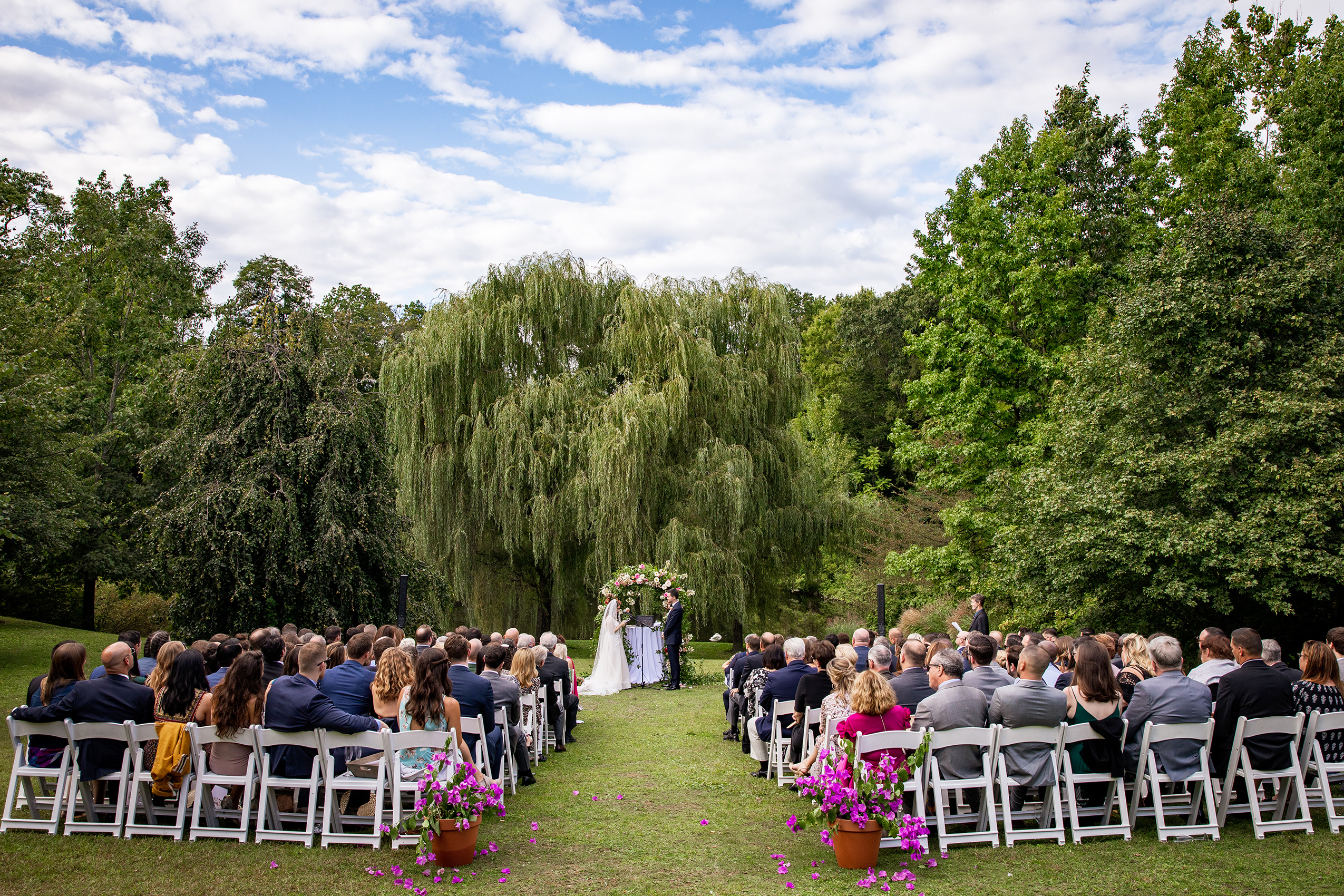 Summer wedding at Buttermilk Falls in Sarma and Co Photogrpahers