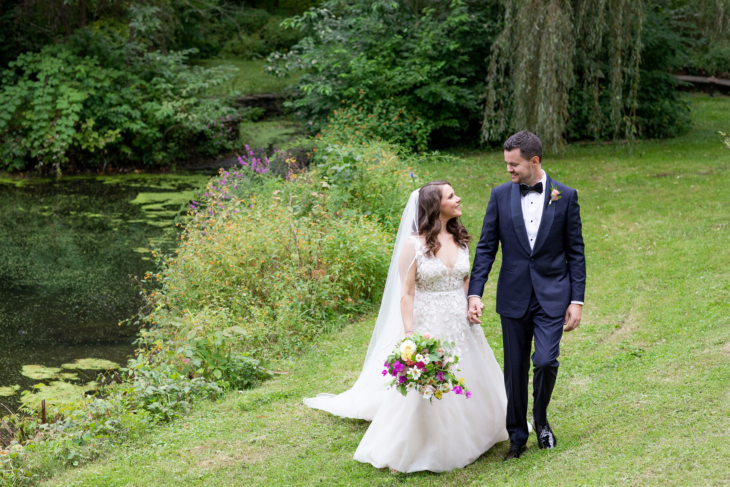 Summer wedding at Buttermilk Falls in Sarma and Co Photography