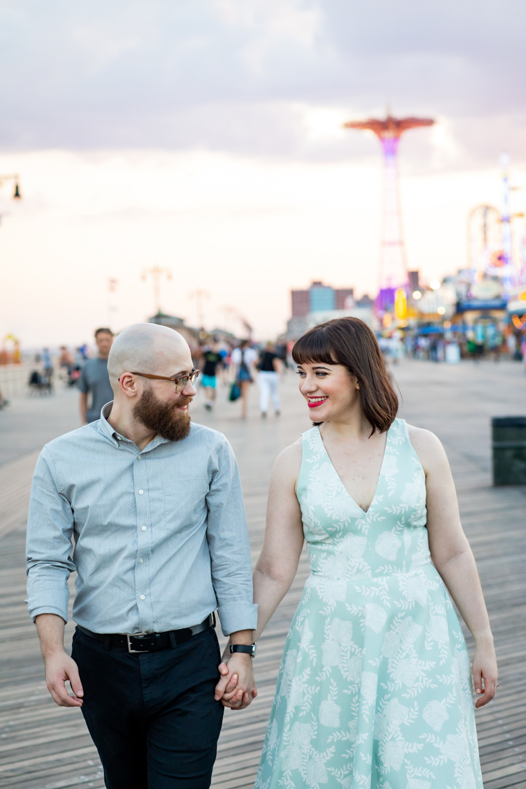 Coney Island Engagement Session Sarma and Co