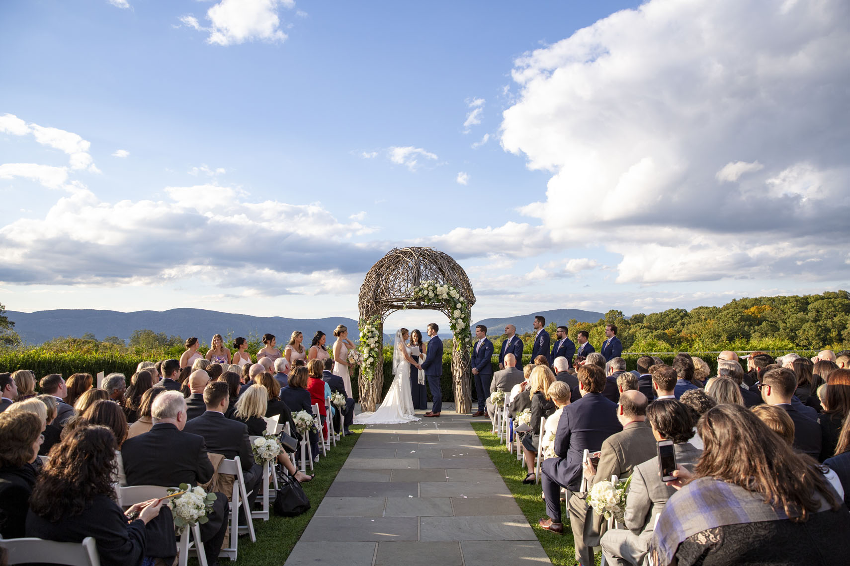 Hudson Valley Fall wedding at The Garrison