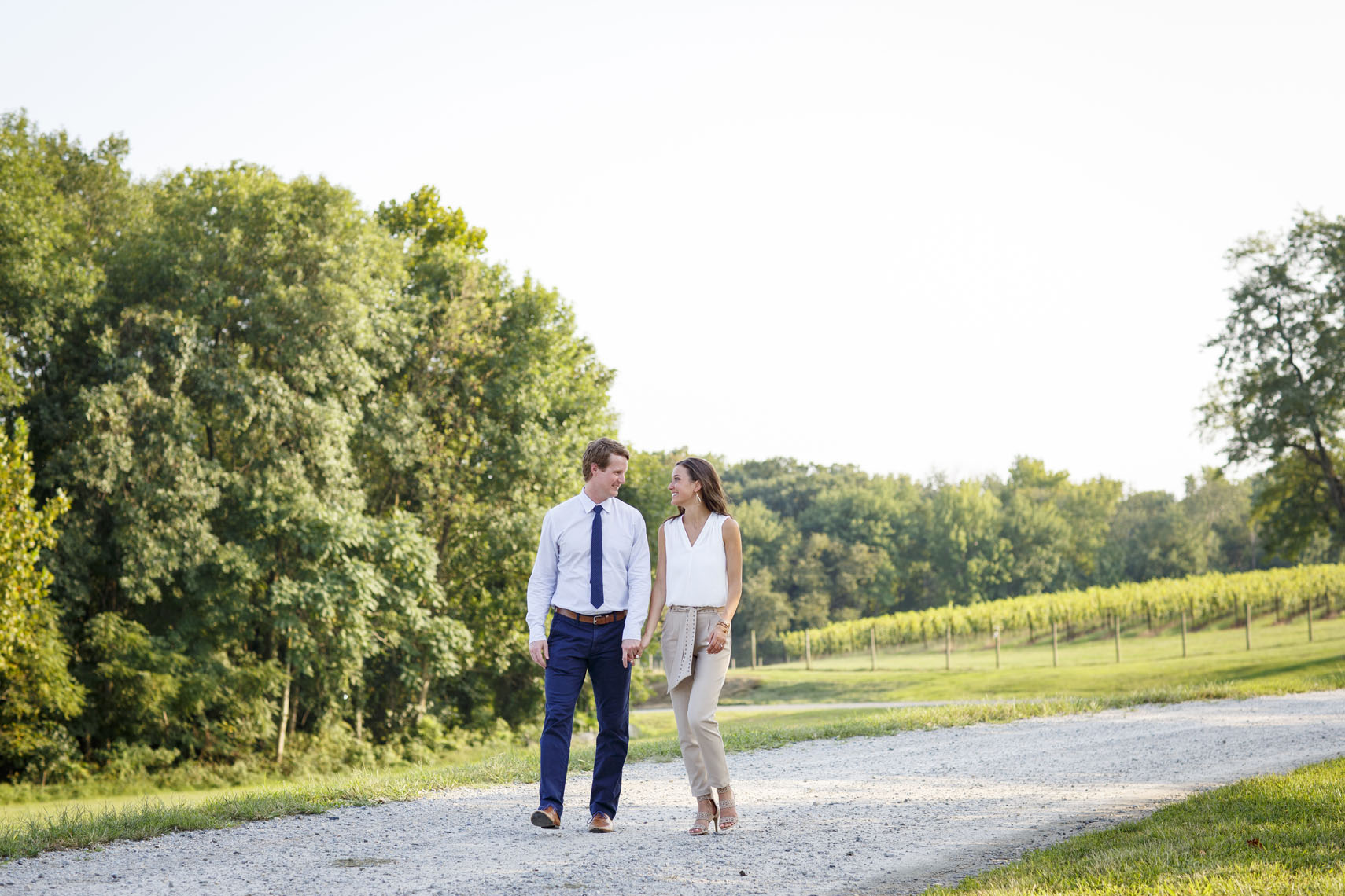 Baltimore Winery Vineyard Engagement Session