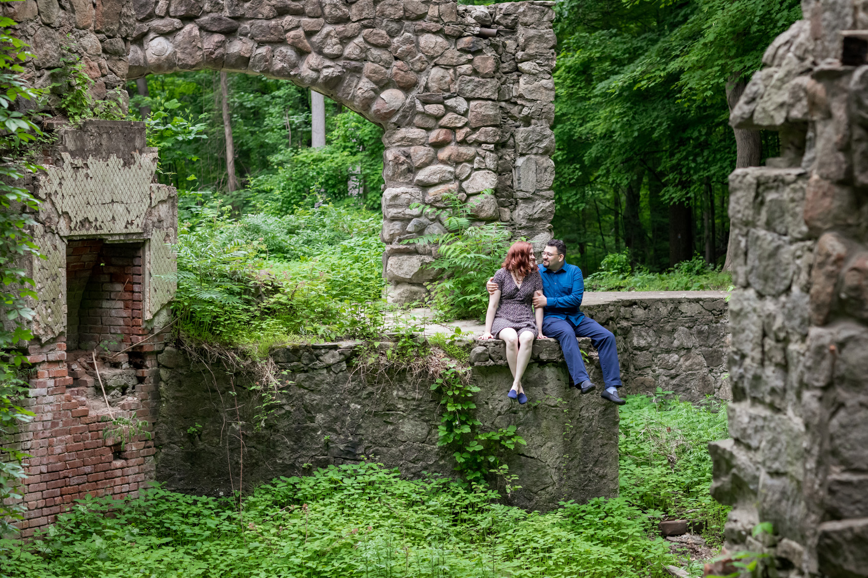 Cornish Estate Ruins Engagement Session Sarma and Co