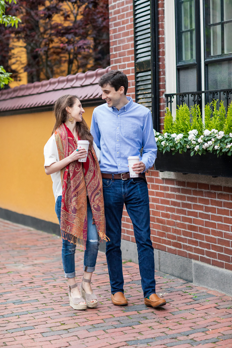Boston Beacon Hill Engagement Session Sarma and Co