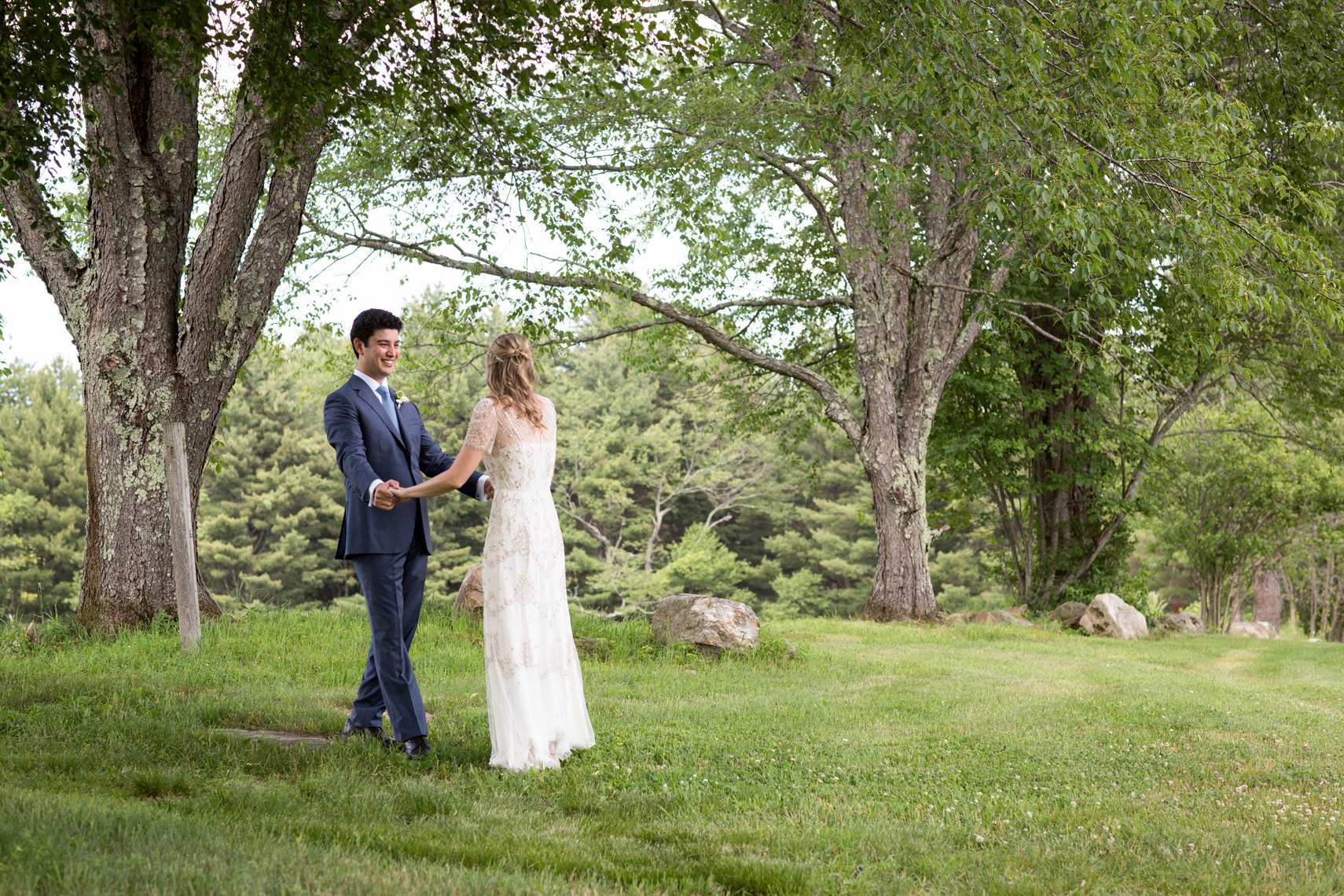 first-look-wedding-couple-Gedney-Farm-Berkshires-wedding-photographer