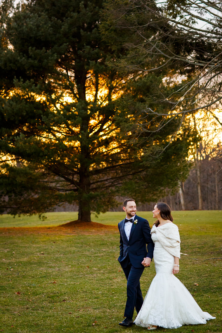 winter-wedding-sunset-portrait-bride-groom-Highlands-Country-Club-wedding-photographer
